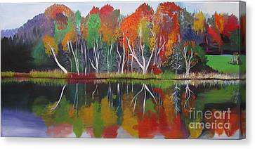 Inspiration Autumn Evening Canvas Print by Art Ina Pavelescu