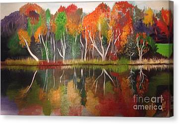 Inspiration Autumn Evening In Work Canvas Print by Art Ina Pavelescu