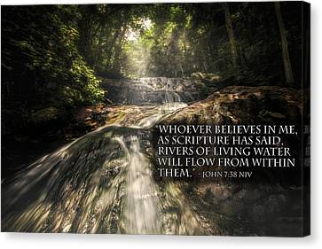 Canvas Print featuring the photograph Inspiration Falls by Joshua Minso