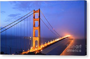 Sausalito Canvas Print - The Golden Gate Bridge by Along The Trail