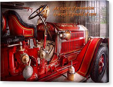 Benjamin Franklin Canvas Print - Inspiration - Truck - Waiting For A Call by Mike Savad