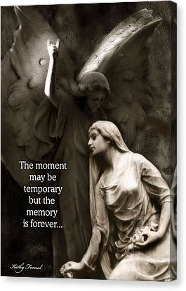 Inspirational Angel Art Ethereal Spiritual Angel Art - Mourning Angel Inspirational Art Canvas Print by Kathy Fornal