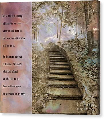 Inspirational Art Nature - Stairs To Heaven - Dreamy Nature Canvas Print