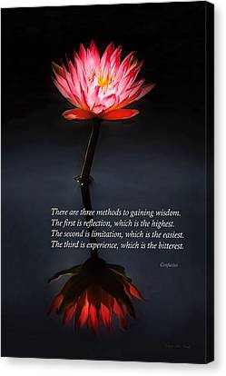 Inspirational - Reflection - Confucius Canvas Print by Mike Savad