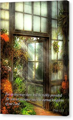 Parable Canvas Print - Inspirational - The Door To Paradise - Peter 1-11 by Mike Savad