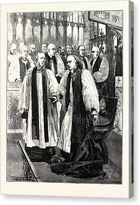 Installation Of The Archbishop Of York In York Minster Canvas Print