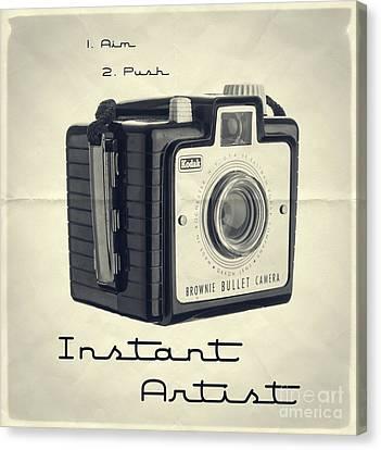 Aim Canvas Print - Instant Artist by Edward Fielding