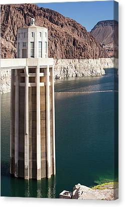 Intake Towers For The Hydro Plant Canvas Print by Ashley Cooper