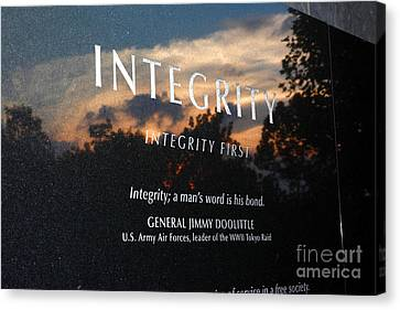 Integrity A Mans Word Is His Bond Canvas Print by James Brunker