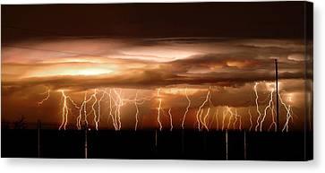 Intense Electrical Storm Canvas Print