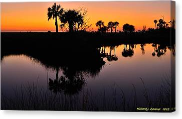 Canvas Print featuring the photograph Intense Reflections by Richard Zentner