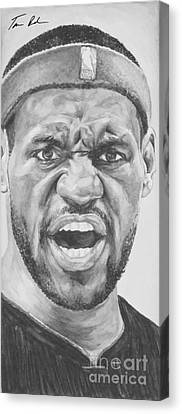 Lebron Canvas Print - Intensity Lebron James by Tamir Barkan
