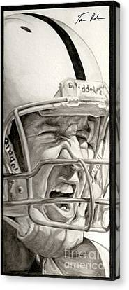 Intensity Peyton Manning Canvas Print