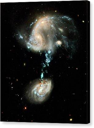 Interacting Galaxies Arp 194 Canvas Print by Nasa/esa/hubble Heritage Team (stsci/aura)