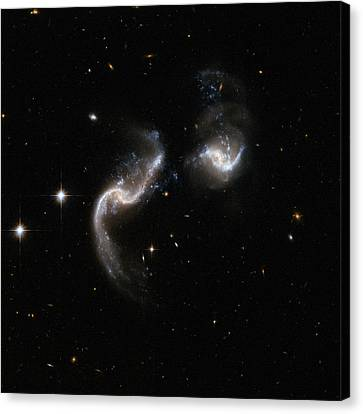 Interacting Galaxy Arp 256 Canvas Print by Celestial Images