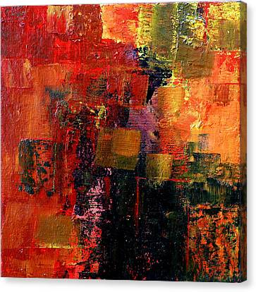 Canvas Print featuring the painting Interaction by Jim Whalen