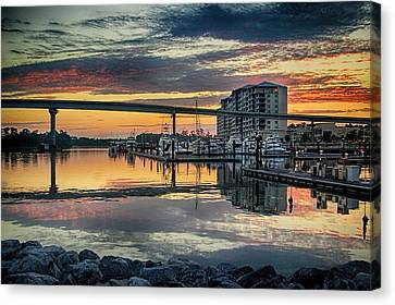 Intercoastal Waterway And The Wharf Canvas Print