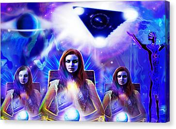 Interdimensional Guardians Canvas Print by Hartmut Jager