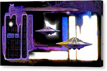 Interdimensional  Stargate Canvas Print by Hartmut Jager