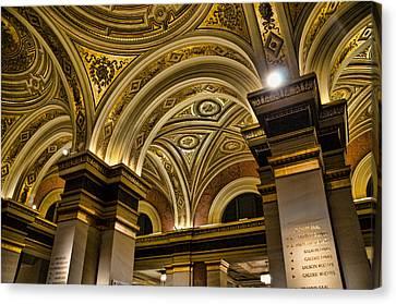 Interior Gesellschaft Der Musikfreunde - Vienna Canvas Print by Jon Berghoff