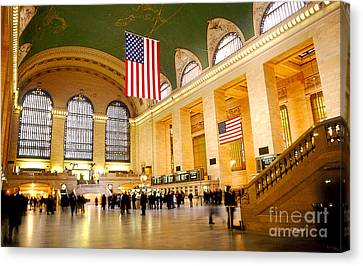 Interior Grand Central Station Canvas Print by Linda  Parker