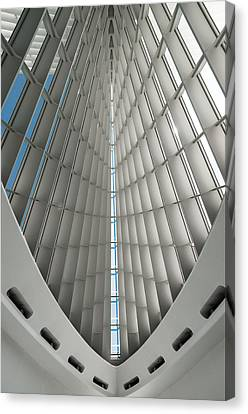 Interior Milwaukee Art Museum Canvas Print by Paul Plaine