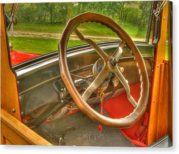 Interior Of A 1926 Model T Ford Canvas Print by Thomas Young