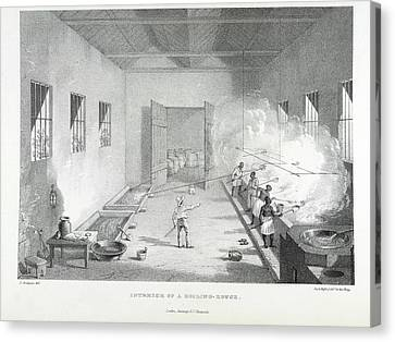 Interior Of A Boiling-house Canvas Print by British Library