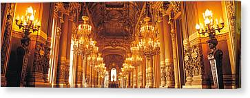 Interior Of A Palace, Chateau De Canvas Print by Panoramic Images