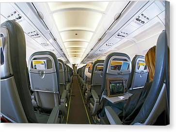 Interior Of A Passenger Airliner Canvas Print