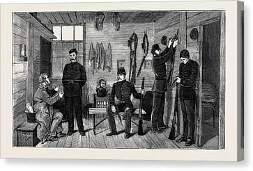 Interior Of A Police Hut At Gurranmore, Pallas Canvas Print by Irish School