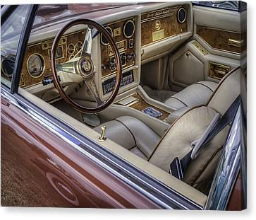 Interior Of A Stutz Blackhawk Canvas Print by Thomas Young