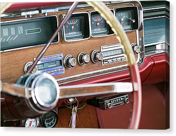 Interior Of An Old Classic Car Canvas Print by Julien Mcroberts