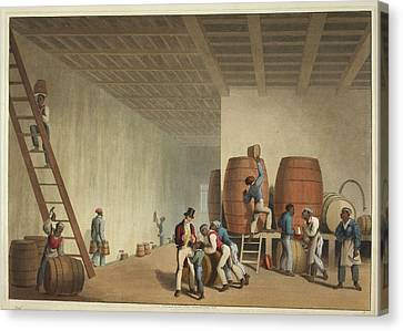 Interior Of Distillery Canvas Print by British Library