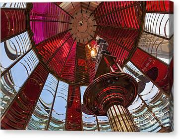 Interior Of Fresnel Lens In Umpqua Lighthouse Canvas Print