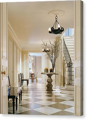 Interior Of Modern Living Room Canvas Print