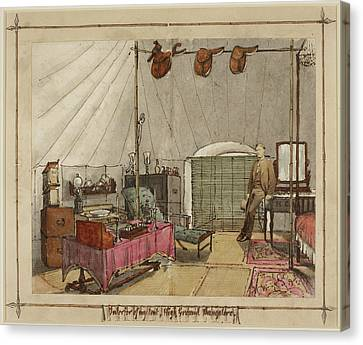 Interior Of My Tent Canvas Print by British Library