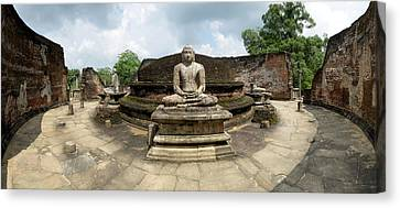 Interior Of Polonnaruwa Vatadage Canvas Print by Panoramic Images
