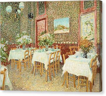Interior Of Restaurant Canvas Print by Vincent van Gogh