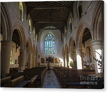 Interior Of St Mary's Church In Rye Canvas Print by Louise Heusinkveld