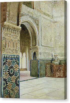 Interior Of The Alhambra  Canvas Print by French School
