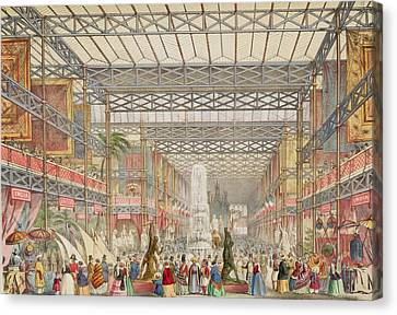 Interior Of The Crystal Palace, Pub Canvas Print by Augustus Butler