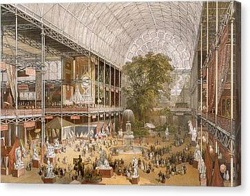 South Hall Canvas Print - Interior Of The Internation Exhibition by English School