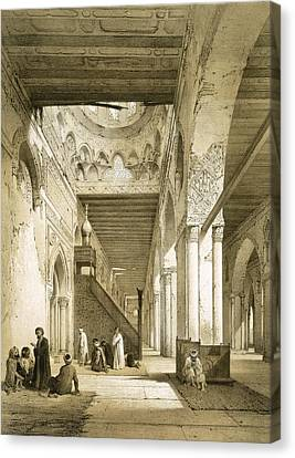 Interior Of The Maqsourah In The 9th Canvas Print
