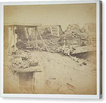 Interior Of The North Taku Fort Canvas Print