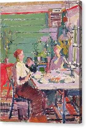Camden Town Group Canvas Print - Interior Scene, Possibly In Norway, C.1912 Oil On Canvas by Harold Gilman
