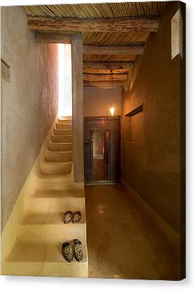 Chateau Canvas Print - Interior Stairway With Slippers In Dar by Panoramic Images