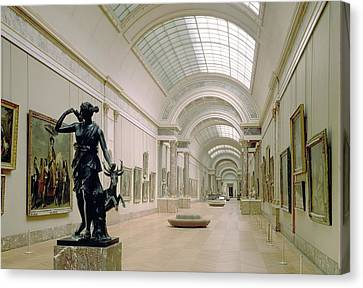 Interior View Of The Grande Galerie, 16th-19th Century Photo Canvas Print by French School