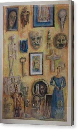 Interior With Exvotos Canvas Print by Paez  Antonio