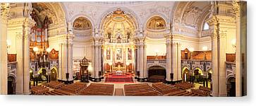 Interiors Of A Cathedral, Berlin Canvas Print by Panoramic Images